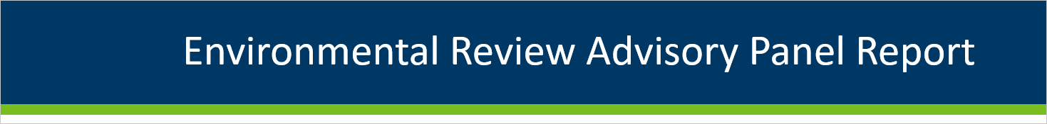 Environmental Review Advisory Panel Report