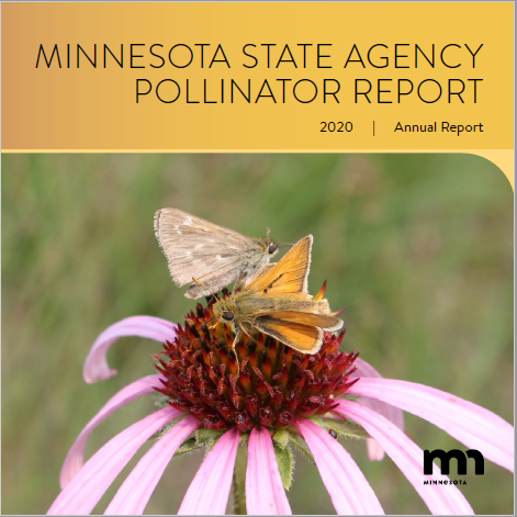 Front cover of the 2020 Minnesota State Agency Pollinator Report